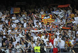 May 9, 2019 - Valencia, Valencia, Spain - Supporters of Valencia  during UEFA Europa League football match, between Valencia and Arsenal, May 09th, in Mestalla stadium in Valencia, Spain. (Credit Image: © AFP7 via ZUMA Wire)