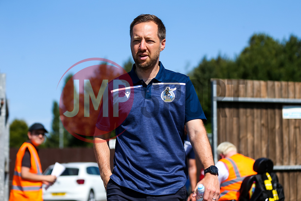 Bristol Rovers manager Ben Garner arrives - Rogan/JMP - 08/08/2020 - FOOTBALL - The Creek - Bristol, England - Bristol Manor Farm v Bristol Rovers - Pre-season Friendly