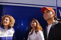 20080413: ESTORIL, PORTUGAL - Moto GP 2008 - Portugal Grand Prix. In picture Roger Federer and wife Mirka Vavriner visit circuit. <br /> PHOTO: Alexandre Pona/CITYFILES