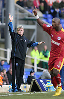 Photo: Mark Stephenson.<br />Birmingham City v Reading. The FA Cup. 27/01/2007.<br />Steve Bruce on the side lines