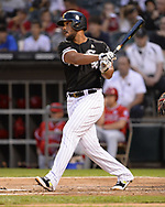 CHICAGO - SEPTEMBER 07:  Jose Abreu #79 of the Chicago White Sox bats against the Los Angeles Angels on September 7, 2019 at Guaranteed Rate Field in Chicago, Illinois.  (Photo by Ron Vesely)  Subject:   Jose Abreu