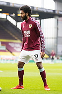 Richard Nartey of Burnley warming up before   the FA Cup match between Burnley and Milton Keynes Dons at Turf Moor, Burnley, England on 9 January 2021.