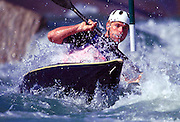 © 2000 All Rights Reserved - Peter Spurrier Sports Photo. K1  Slalom Canoe - Sydney Olympics 2000 - Penrith Lakes, NSW. ..First run 19th Sept 2000  Helmut Oblinger - AUT [Mandatory Credit. Peter Spurrier:Intersport Images]