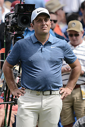 August 9, 2018 - Town And Country, Missouri, U.S - FRANCESCO MOLINARI from Italy waits to tee off during round one of the 100th PGA Championship on Thursday, August 8, 2018, held at Bellerive Country Club in Town and Country, MO (Photo credit Richard Ulreich / ZUMA Press) (Credit Image: © Richard Ulreich via ZUMA Wire)