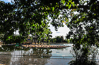 The upper lake in Bois de Boulogne, Paris, France.