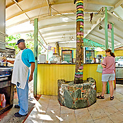 Uncle Joe's Caribbean Barbecue at Cruz Bay, St. John, US Virgin Islands, USA. High resolution panorama.