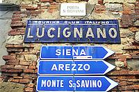 Italie, Toscane, Province d'Arezzo, village de Lucignano, Val di Chiana // Italy, Tuscany, Arezzo province, Lucignano village, Val di Chiana