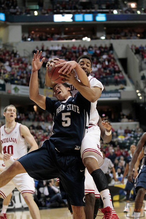 08 March 2012: Indiana Forward Christian Watford (2)  as the Indiana Hoosiers played the Penn State Nittany Lions in a college basketball game during the Big 10 Men's Basketball Championship in Indianapolis
