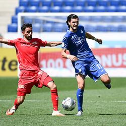 Yunus Malli (Union Berlin, l.) gegen Florian Grillitsch (Hoffenheim, r.).<br /> <br /> Sport: Fussball: 1. Bundesliga: Saison 19/20: 33. Spieltag: TSG 1899 Hoffenheim - 1. FC Union Berlin, 20.06.2020<br /> <br /> Foto: Markus Gilliar/GES/POOL/PIX-Sportfotos<br /> <br /> Foto © PIX-Sportfotos *** Foto ist honorarpflichtig! *** Auf Anfrage in hoeherer Qualitaet/Aufloesung. Belegexemplar erbeten. Veroeffentlichung ausschliesslich fuer journalistisch-publizistische Zwecke. For editorial use only. DFL regulations prohibit any use of photographs as image sequences and/or quasi-video.