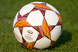 17.05.2012, Olympiastadion, Muenchen, GER, UEFA CL, Finale Damen, Olympic Lyon (FRA) vs FFC Frankurt (GER), im Bild The match ball for the UEFA Champions League final for women played at the Olympia Stadion and contested by Olympic Lyon from France and FFC Frankurt from Germany, Germany on 2012/05/17 . EXPA Pictures © 2012, PhotoCredit: EXPA/ Mitchel Gunn