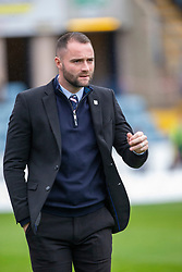 Dundee manager James McPake at the start of the game. Dundee 1 v 3 Partick Thistle, Scottish Championship game player 19/10/2019 at Dundee stadium Dens Park.