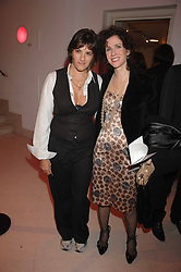 Left to right, TRACEY EMIN and MOLLIE DENT-BROCKLEHURST at the Art Plus Drama party Held at the Whitechapel Art Gallery, London E1 on 8th March 2007. <br /><br />NON EXCLUSIVE - WORLD RIGHTS