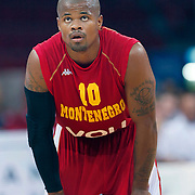 Montenegro's Omar COOK during their Istanbul CUP 2011match played Ukraine between Montenegro at Abdi Ipekci Arena in Istanbul, Turkey on 24 August 2011. Photo by TURKPIX