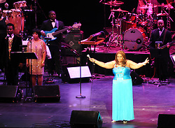 Aretha Franklin performs at the Radio City Hall with a special tribute to Whitney Houston in New York City, NY, USA on February 17, 2012. Photos by JMP/ABACAPRESS.COM