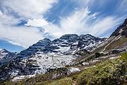 Buckskin Pass. Maroon-Snowmass Trail #1975, Maroon Bells-Snowmass Wilderness, White River National Forest. Near Aspen, Colorado, USA.