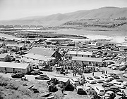 9969-540425-01 Celilo Indian Village during the Feast of the First Salmon, April 25, 1954