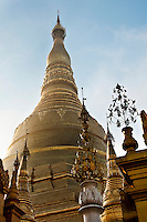 Towering bell stupa of the Shwedagon Pagoda, Myanmar. Exotic places wall art. Fine art photography prints for sale.