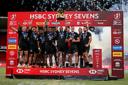 New Zealand win the HSBC World Rugby Sevens in Sydney. Mens Cup Final match between New Zealand and USA, 2019, Spotless Stadium, Saturday 3rd February 2019. Copyright Photo: David Neilson / www.photosport.nz