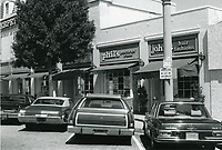 1977 Phil's Poultry/Fish Store & John's Hair Fashion on Larchmont Blvd.