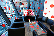 art installation by Yayoi Kusama at the Audi car showroom in Tokyo Japan