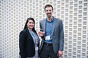Patricia Wooldridge and Brent Benner from GrowthChart Records at the Wisconsin Entrepreneurship Conference at Venue 42 in Milwaukee, Wisconsin, Wednesday, June 5, 2019.