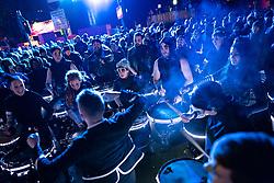 Edinburgh, Scotland, UK. 31st Dec 2019. Edinburgh's famous Hogmanay party. Pictured Edinburgh's Harbingers Drum Crew. Iain Masterton/Alamy Live News