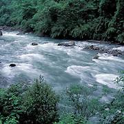 China, Pitiao River near Wolong Natural Reserve and panda preserve. Sichuan. China.