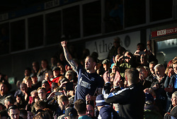 Simon Cox of Southend United celebrates survival with the fans - Mandatory by-line: Arron Gent/JMP - 04/05/2019 - FOOTBALL - Roots Hall - Southend-on-Sea, England - Southend United v Sunderland - Sky Bet League One