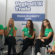 London, England, UK. 20th October 2017.  Speaker from the Angels for the innocent Dean Richardson,Annie's Robertson-Connolly,Heidi Mumford-Yeo,Daryna Milgevska,Anneka Svenskaat the Vegen Celebrity Zone.