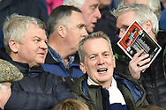 BBC presenter Adrian Chiles chats to Celebrity mate Frank Skinner during the EFL Sky Bet Championship match between West Bromwich Albion and Norwich City at The Hawthorns, West Bromwich, England on 12 January 2019.