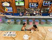 Mud Hut Swim-Up bar at Kalahari Resorts in Wisconsin Dells, Wis. (Photo © Andy Manis)