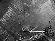 Bikes in the river, Oxford, 9 December 2018