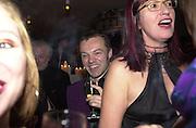 Talk pre-Bafta party. St. Martin's Lane Hotel. London. 24 February 2001. © Copyright Photograph by Dafydd Jones 66 Stockwell Park Rd. London SW9 0DA Tel 020 7733 0108 www.dafjones.com