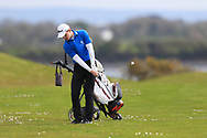 Joshua Hill (Galgorm Castle) on the 17th fairway during Round 2 of the Connacht U16 Boys Amateur Open Championship at Galway Bay Golf Club, Oranmore, Galway on Wednesday 17th April 2019.<br /> Picture:  Thos Caffrey / www.golffile.ie
