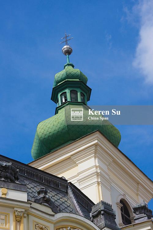 House with green top, Sibiu, Romania