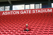 A solitary fan in the stands during the EFL Sky Bet Championship match between Bristol City and Burton Albion at Ashton Gate, Bristol, England on 13 October 2017. Photo by John Potts.