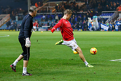Matt Smith of Bristol City (newly signed on loan from Fulham) warms up before the match - Photo mandatory by-line: Rogan Thomson/JMP - 07966 386802 - 28/11/2014 - SPORT - FOOTBALL - Peterborough, England - ABAX Stadium - Peterborough United v Bristol City - Sky Bet League 1.