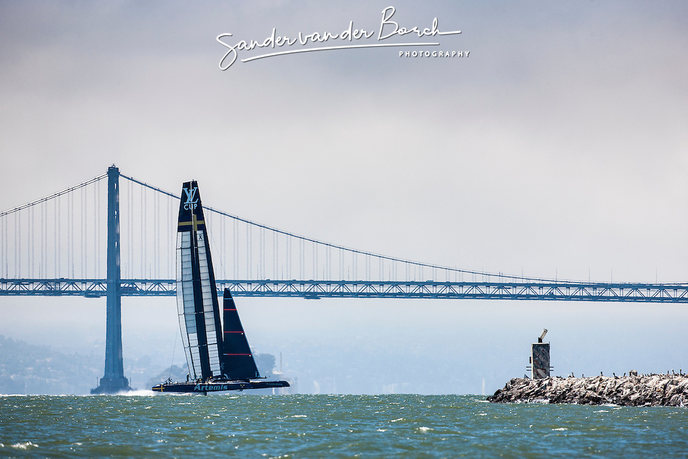Day three practice Artemis Racing. 25th of July, 2013, Alameda, USA