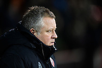 Sheffield United manager Chris Wilder <br /> <br /> Photographer Chris Vaughan/CameraSport<br /> <br /> The EFL Sky Bet League One - Sheffield United v Fleetwood Town - Tuesday 24th January 2017 - Bramall Lane - Sheffield<br /> <br /> World Copyright © 2017 CameraSport. All rights reserved. 43 Linden Ave. Countesthorpe. Leicester. England. LE8 5PG - Tel: +44 (0) 116 277 4147 - admin@camerasport.com - www.camerasport.com