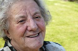 Portrait of Elderly woman smiling,