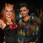 Kelly Wild  and Mr Fabulous - Jay Kamiraz attend BBC1 All Together Now Series 1 Cast Members, fright night at The London Bridge Experience & London Tombs on 28 October 2018, London, UK.