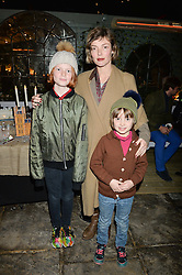 The Ivy Chelsea Garden's Guy Fawkes Party & Launch of The Winter Garden was held on 5th November 2016.<br /> Picture shows:- CAMILLA RUTHERFORD and her daughters MAUD & NANCY