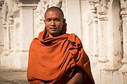 Portrait of a Buddhist Monk at the Kuthodaw Pagoda