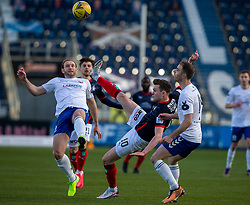 20MAR21 Montrose Paul Watson and Falkirk's Anton Dowds. Falkirk 2 v 0 Montrose, Scottish Football League Division One game played 20/3/2021 at The Falkirk Stadium.