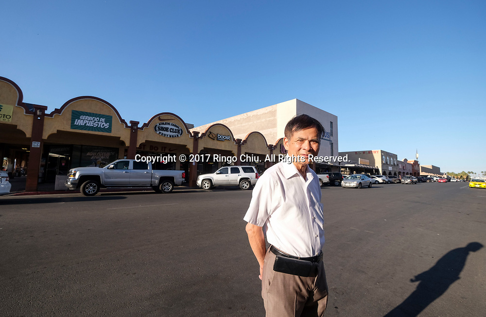 James Lo, CEO of Pacificland International Development Inc., poses in Calexico (the US and Mexico border), California on Wednesday April 19, 2017. (Xinhua/Zhao Hanrong)