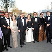 NLD/Hilversum/20070312 - Inloop verjaardagsfeest Joop van den Ende 65 jaar, Maurits en partner Marilene van den Broek, Pieter - Christiaan en partner Anita van Eijk, Bernhard Jr. en partner Anette Sekreve, Floris en Aimee Söhngen