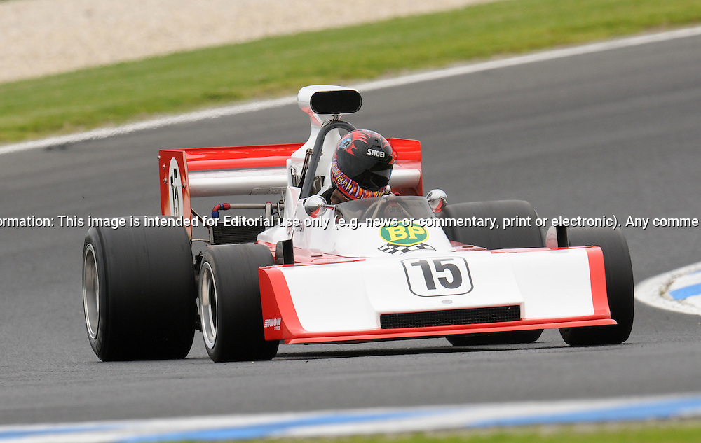 Tony Floreani - Elfin MR 5 - Formula 5000 .Historic Motorsport Racing - Phillip Island Classic.18th March 2011.Phillip Island Racetrack, Phillip Island, Victoria.(C) Joel Strickland Photographics.Use information: This image is intended for Editorial use only (e.g. news or commentary, print or electronic). Any commercial or promotional use requires additional clearance.