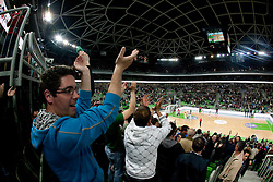 Arena Stozice during second semi-final match of Basketball NLB League at Final four tournament between KK Union Olimpija and Krka (SLO), on April 19, 2011 in Arena Stozice, Ljubljana, Slovenia. Union Olimpija defeated Krka 67-57. (Photo By Vid Ponikvar / Sportida.com)