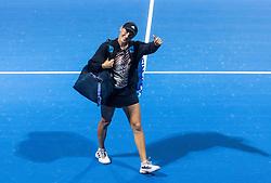 PORTOROZ, SLOVENIA - SEPTEMBER 17:   Kaja Juvan of Slovenia reacts after winning against Tamara Zidansek of Slovenia at quarterfinal match of the WTA 250 Zavarovalnica Sava Portoroz at SRC Marina, on September 17, 2021 in Portoroz / Portorose, Slovenia. Photo by Vid Ponikvar / Sportida