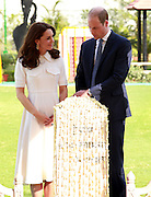 NEW DELHI, April 12, 2016<br /> <br /> William and Kate continue Roiyal Visit<br /> <br /> Britain's Prince William (R) and his wife Kate Middleton walk at Gandhi Smriti in New Delhi, India, April 11, 2016. The royal couple paid a visit Monday to the sacred place where Mahatma Gandhi, known as the father of India, spent the last 144 days of his life and was assassinated on January 30, 1948.<br /> ©Exclusivepix Media
